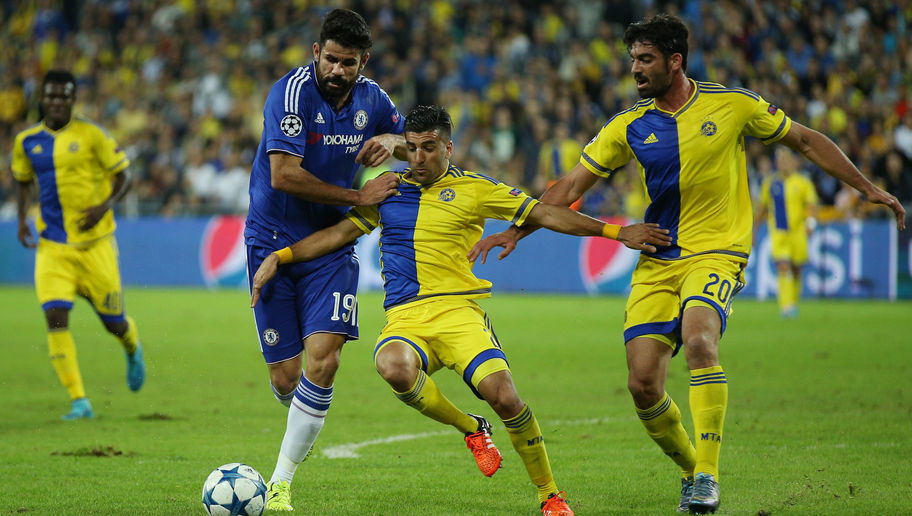during the UEFA Champions League Group G match between Maccabi Tel-Aviv FC and Chelsea FC at Sammy Ofer Stadium on November 24, 2015 in Haifa, Israel.